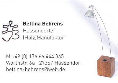 Bettina Behrens | Hassendorfer (Holz)Manufaktur